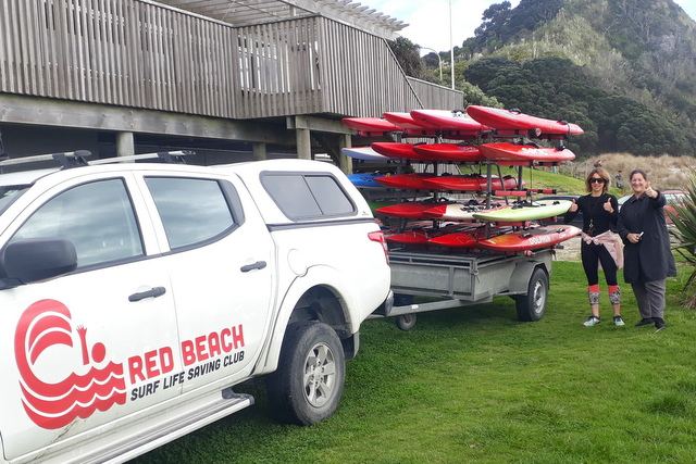 Junior boards gifted to Mangawhai club