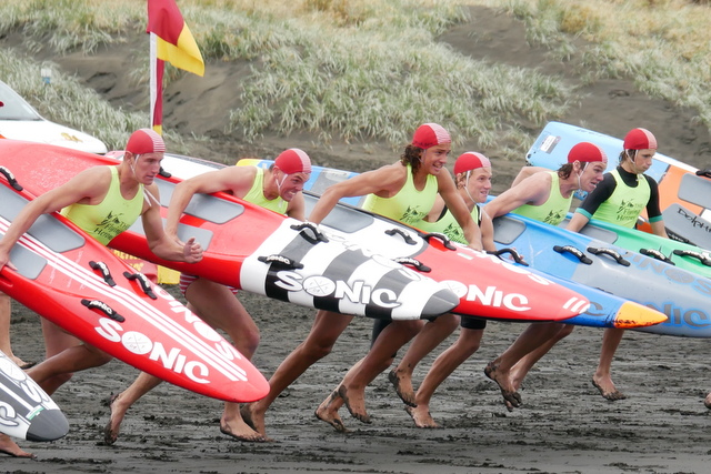Surf carnival at Muriwai marred by rain
