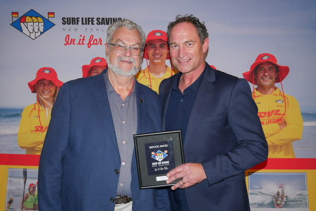 Recognition for Mark Scheib at SLSNZ Awards night