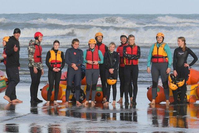 Nine lifeguards qualify as IRB crew