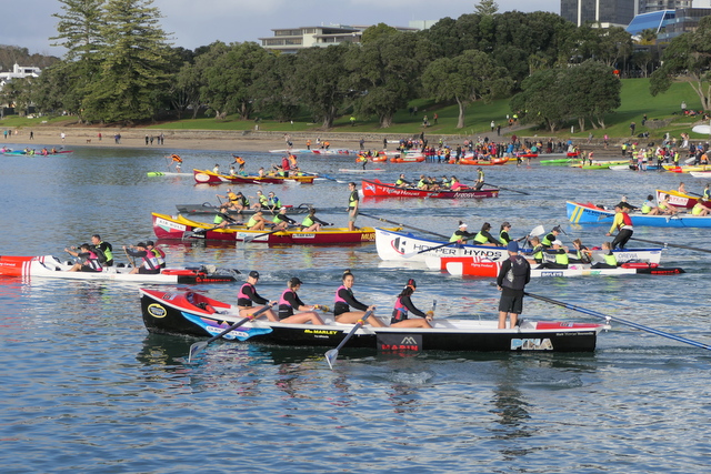 Mid-winter paddle to Rangitoto proves popular