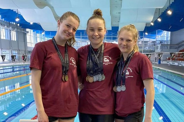 Red Beach swimmers impress at SLSNZ Pool Champs