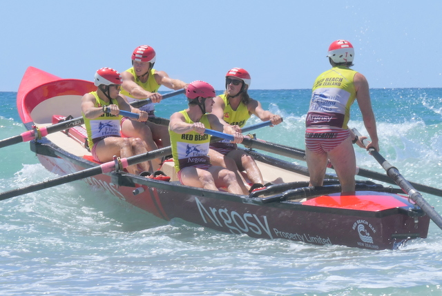 Three boat crews on podium at Waihi